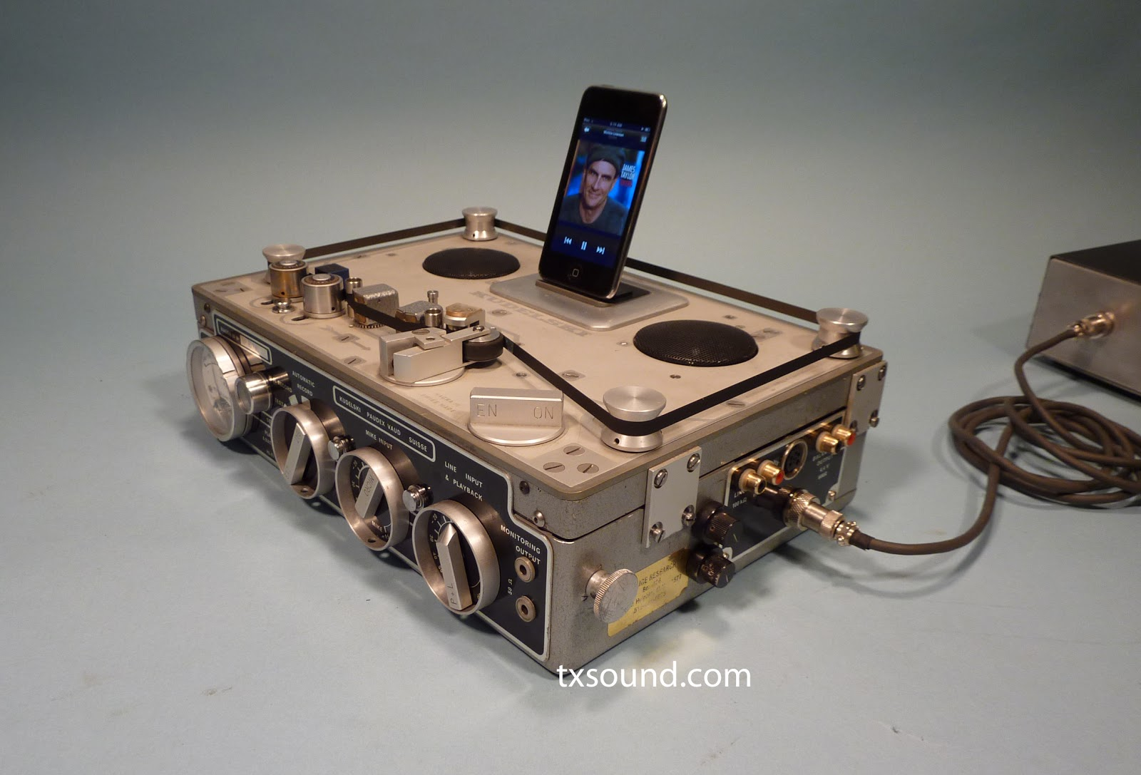 Nagra 3 Recorder To Ipod Dock Amplifier Verrando Texas